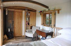 Inside a Cozy Off Grid Gardener's Hut