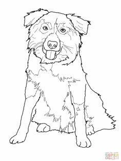 free+stencil+dog+border+collie | Border Collie Coloring Pages