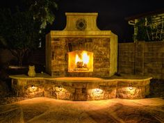 Backyard Flare, Outdoor Fireplaces, Fire Pits, Stone Pizza Ovens, Barbeques... good stuff for future house projects!