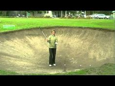 Golf - Womens Bunker lesson:How to get out of a deep bunker Golf Videos, Girls Golf, Hole In One, Golf Fashion, Bunker, Golf Tips, Getting Out, Deep, Sports