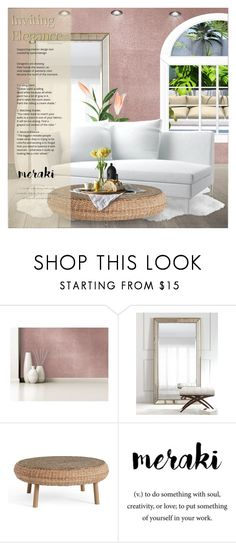 """Bright Spring day.."" by jessiediy ❤ liked on Polyvore featuring interior, interiors, interior design, home, home decor, interior decorating, Devine Color, Pottery Barn and Meraki"