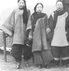 Chinese women with bound feet.