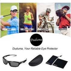 Duduma Polarized Sports Sunglasses for Running Cycling Fishing Golf Unbreakable Frame (black matte frame with black lens) - Big Sale Online Shopping USA Cycling Sunglasses, Mens Sunglasses, Golf Slice, Online Shopping Usa, Man Cave Room, Sports Glasses, Fishing Accessories, Golf Tips, Softball