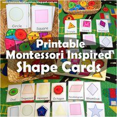 Suzie's Home Education Ideas: Montessori Inspired Shape Cards - Printable