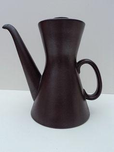 So stylish 1955 Stig Lindberg Stoneware Coffee Pot for Gustavsberg  shop@vraivintage.co.uk