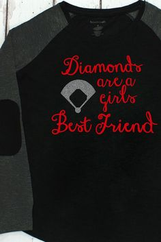 Diamonds Are A Girl's Best Friend Preppy Patch Tee #T66 *Choose Your Colors