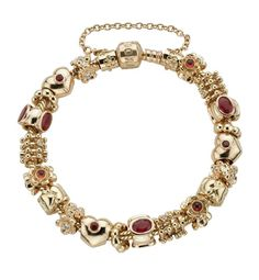 Authentic Pandora Bracelet--for the FOUR people in the world that could afford it!  LOL--very pretty!