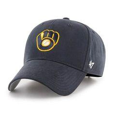 036c68f2e83 Milwaukee Brewers KIDS 47 Brand Navy MVP Adjustable Hat