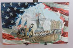 ANTIQUE EMBOSSED GEORGE WASHINGTON  ENTERING NEW YORK POSTCARD TUCK & SONS
