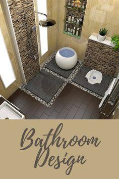 Small House Interior Design, Home Design Living Room, Kitchen Room Design, Beautiful Interior Design, Bathroom Design Small, Bathroom Layout, Dream Home Design, Bathroom Interior Design, Home Decor Bedroom