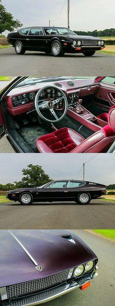 1974 Lamborghini Espada Series III - Black Cherry - Cool Cars/Trucks/etc. Lamborghini Aventador, Ferrari, Lamborghini Espada, Retro Cars, Vintage Cars, Maserati, Peugeot, Best Muscle Cars, Best Classic Cars