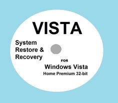 OS System Restore Recovery for Windows Vista Home Premium 32-bit Install Boot CD.
