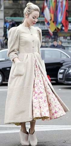 Ulyana Sergeenko - so cute and it looks very comfortable (although I would wear flats)