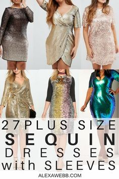 f954e35949b3e 27 Plus Size Sequin Dresses  with Sleeves