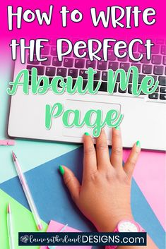 """Your about page is great for SEO so it's time to up your game and write the perfect """"About Me"""" page! Trust Yourself, Make It Yourself, Behind The Screen, About Me Page, Unique Facts, Writing About Yourself, Call To Action, Keep In Mind, Understanding Yourself"""