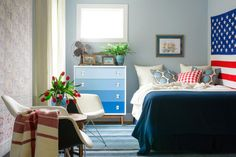 Adding Vintage Americana Style to a Guest Bedroom | Interior Design Styles and Color Schemes for Home Decorating | HGTV