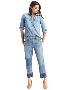1969 denim fitted boyfriend shirt | Gap