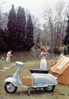 Me and vespa Vespa Motorcycle, Lambretta Scooter, Scooter Motorcycle, Vespa Scooters, Vintage Bikes, Vintage Motorcycles, Classic Vespa, Italian Scooter, Retro Scooter