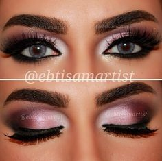 Pretty pink / Purple smokey - Pink and white colours by wet and wild by MUA @ebtisamartist on Instagram