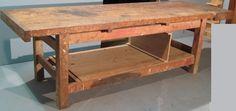 ART: 413 antico banco da falegname con una morsa FUNZIONANTE #OCCASIONE #SALE #TABLE #TAVOLO #FALEGNAME #WOOD #