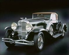 1933 Duesenberg Model SJ. This was a supercharged version of the Model J built 1932-37 in Indiana.