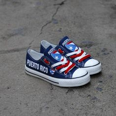 bd130fff0b Custom Printed Low Top Canvas Shoes - Puerto Rico Blue Chuck Taylor Sneakers