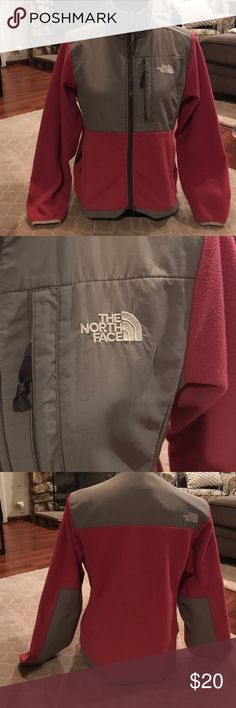 North Face fleece jacket North Face fleece jacket pink and gray in good condition all zippers work. No rips or tears North Face Jackets & Coats