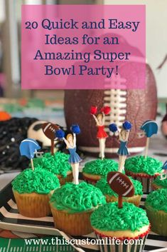 Here are 20 fun and easy ideas for your Super Bowl Sunday party that won't break the bank. Or your schedule! Theme Parties, Party Themes, Football Tailgate, Super Bowl Sunday, Sports Party, Work Party, Schedule, Nfl, Birthdays