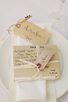 Custom wooden cards for Valerie & Michael's wedding