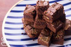 brownie recheado de caramelo