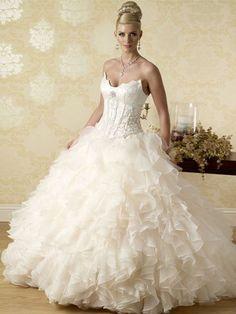 Exciting Princess Wedding Dress With Ruffles Princess Wedding Dresses, Best Wedding Dresses, Ruffles, One Shoulder Wedding Dress, Fairy Tales, Fashion, Moda, Fashion Styles, Fairytail
