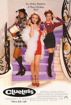 Alicia Silverstone, Stacey Dash, Brittany Murphy, and Elisa Donovan in Clueless Clueless 1995, Clueless Fashion, 2000s Fashion, Look Fashion, Clueless Style, Dionne Clueless Outfits, Cher Clueless Costume, Movie Posters, Homecoming Outfits