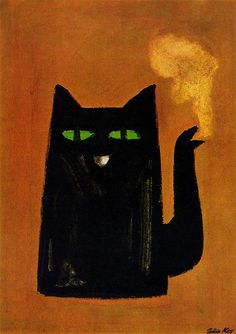 Chat Noir coffee, 1966 | Julian Key ----------------------------------------------- the first ever wordless advertising poster