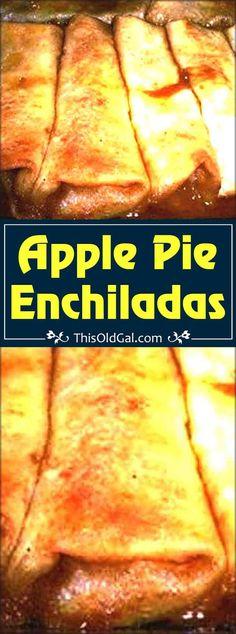 Apple Pie Enchiladas with / #Apple #Enchiladas #Pie Tortilla Dessert, Fried Apple Pies, Fried Pies, Pecan Pies, Köstliche Desserts, Delicious Desserts, Apple Desserts, Cinnamon Desserts, Dessert Recipes