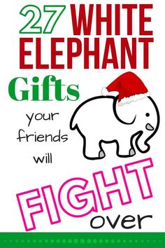 white elephant gifts Are you searching for the most hilarious gag gift EVER for your White Elephant or Dirty Santa party Look no further -- youll find the funniest here! Gifts For Family, Gifts For Kids, Frugal Family, Frugal Living, Funny Christmas Gifts, Christmas Games, Christmas Ideas, Homemade Christmas, Unisex Christmas Gifts