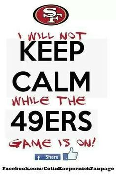 San Francisco will always be a faithful fan but I wish they would let Kaepernick Go! 49ers Game, Nfl 49ers, Sf Niners, Forty Niners, Best Football Team, Football Baby, Football Humor, Sport Football, 49ers Pictures