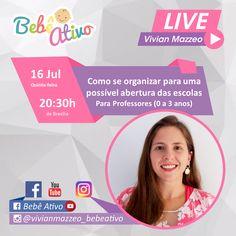 Nossa live de hoje...  Deixe sua pergunta nos comentários  Até mais tarde Beijo Vivian Mazzeo  #bebeativo #vivianmazzeo #bercario #creche #educacaoinfantil #professoradobercario #professoradoberçário #bercarista #berçarista #bebenaescola #estimulacaoparabebes #bercario1 #bercario2 #berçário1 #berçário2 Live, Riddle Questions And Answers, Kiss, Living Alone, Childhood Education, School