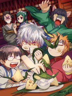 Gintama fan art by zerochan All Anime, Me Me Me Anime, Manga Anime, Anime Art, Otaku, Animal Ears, Manga Games, Anime Characters, Chibi