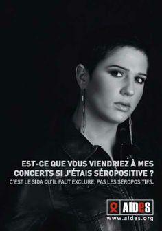 France 2007 AIDES. It's AIDS that we must exclude, not the HIV positive. C'est le SIDA qu'il faut, exclure, pas le séropositifs.