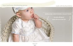 Boys Heirloom Christening Gowns Collection