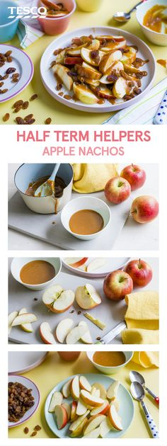 Half-term adventures just got more fun with these tasty apple nachos. Made in just three super simple steps, this snack recipe for kids is exactly what long holidays call for. | Tesco