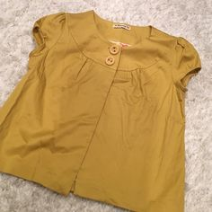 Cardigan Yellow mustard cardigan. You can wear a tank top inside and pair it with some denim shorts. It's in good condition. Size small. Tops Blouses