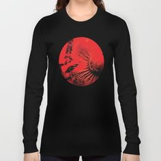 Ammonite Red & Buddleia Red Long Sleeve T-shirt