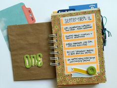 september is for. Book Journal, Journals, Day List, All Paper, Mini Books, Craft Tutorials, Paper Crafts, Writing, My Love