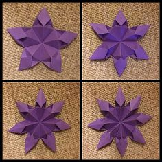 Origami: excellent interpretation and refined and elegant presentation of my kite star. CP: http://guarnieri-origami.blogspot.it/2013/02/stella-aquilone.html