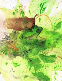 Frösche Bilder - Original Acryrelle von Wachsmann malen lassen. 60 Euro - 30 x 40 cm