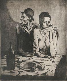 Pablo Ruiz Picasso Il pasto frugale, 1904. Palazzo dei Diamanti - Opere in mostra