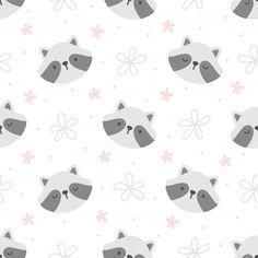 Lindo mapache sin fisuras de fondo Vecto... | Premium Vector #Freepik #vector #patron Wallpaper Iphone Cute, Cute Wallpapers, Wallpaper Backgrounds, Cute Cartoon Drawings, Outline Drawings, Hipster Accessories, Fashion Accessories, Lion Illustration, Cute Raccoon
