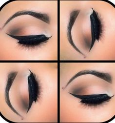 Gorgeous eye make up. Pair with red lips ❤ Pretty Makeup, Love Makeup, Makeup Inspo, Makeup Inspiration, Makeup Ideas, Eye Makeup Tips, Beauty Makeup, Hair Beauty, Makeup Products