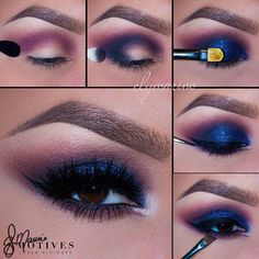 """Good morning Beauties Dramatic Glam by the talented @elymarino  Isn't this perfect? She used our new Dynasty palette 1.Begin by applying """"Electra"""" slightly above the crease! Then taking """"Obsessed"""" (Single shadow) blend in the crease 2.On a fluffy brush apply """"Aphrodite"""" onto the outer """"V"""" of the eye and sweep into the crease 3.Using the same color """"Aphrodite"""" pat onto the lid! Then taking """"Motives Glitter Glue"""" Pat gently on the lid. Mix both """"Vivid Blue and Ignite Glitter Pot"""" and pat onto…"""
